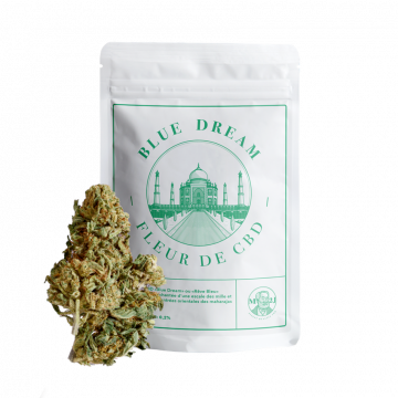 Fleur et packaging blue dream M2J CBD